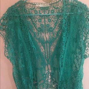 Maurices Kelly green lace cover up